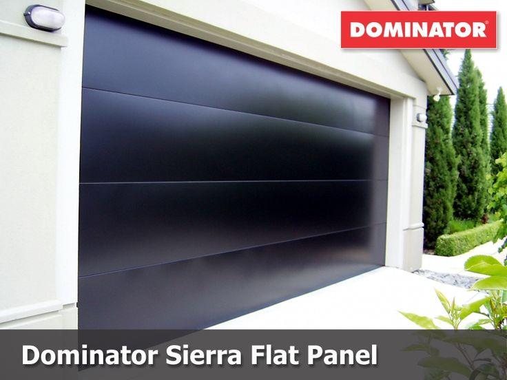 Dominator Sierra Flat Panel Sectional Door in Pitch Black