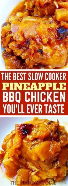This slow cooker pineapple BBQ chicken recipe is THE BEST! I'm so happy I found this on many of my well-kept chicken crock pot recipes. Now I have this easy, healthy chicken recipes for lazy days. I will include this in my list of chicken slow cooker recipes and healthy recipes on a budget. Truly, this is one the brown sugar pineapple appetizer. Definitely pinning!