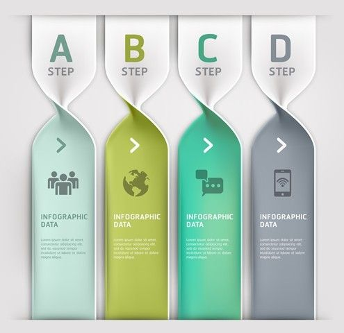 Free Vector Technology Infographic Step Options Elements 01