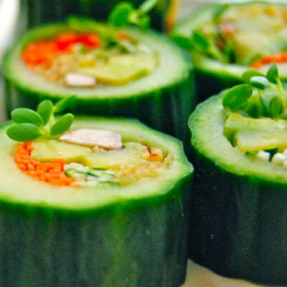 how to make cucumber sushi rolls at home
