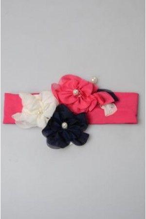 pembe lacivert çiçekli bandana