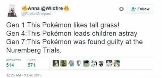 Basically pokedex entries