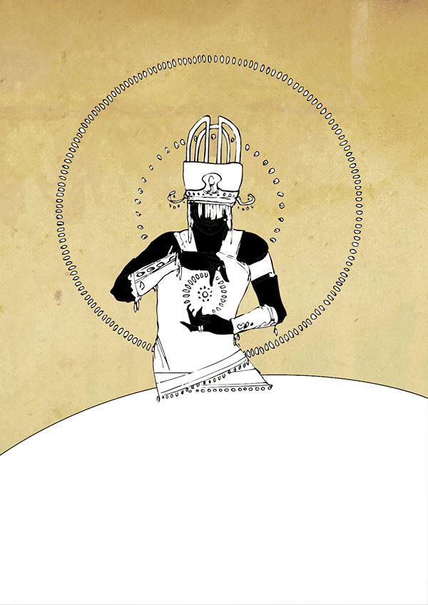 Série de ilustrações com doze dos orixás mais conhecidos do Brasil.