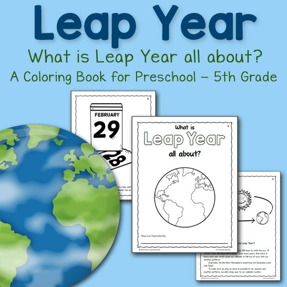 Download a 9-page set of Leap Year coloring pages! Includes ideas for use for Pre-K through 5th Grade.
