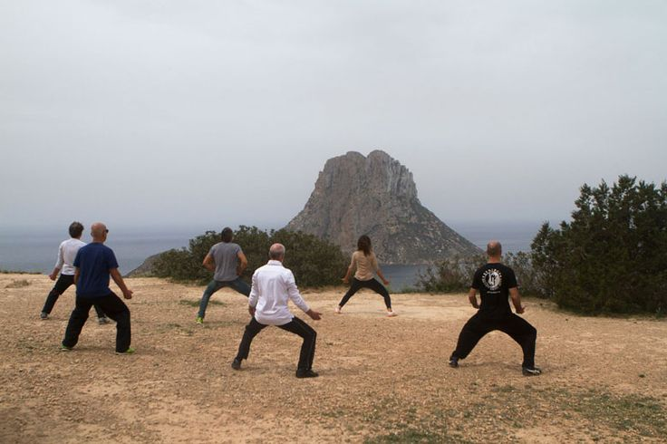 TheFeel ZenmaX Baduanjin -Hachidankin training at Es Vedra, the third most powerful magnetic spot in the world! Natural Tuning retreat, Casa Gazebo, Ibiza