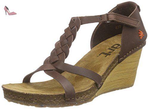 Zapatos marrones de punta abierta formales para mujer KiIGbV93