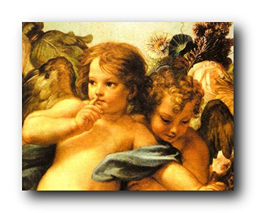 Infuse elegance and sophistication into your kid's bedroom with this wonderful Cherubini little angels of Sistine Madonna art print poster. This poster will be a perfect addition for kid's bedroom which will bring smile on their faces. If you have a little princess in your home then this little angels wall art is an ultimate pick to decor your princess room. It will bring your home walls to life. Grab this amazing poster for its high quality gloss finish paper with archival quality inks…
