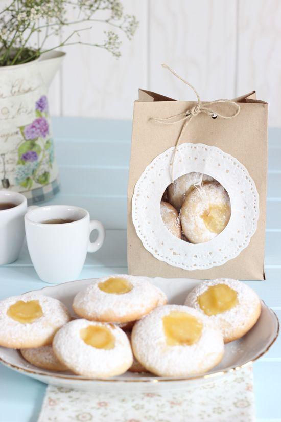 Galletas Thumbprint de limón (Con DIY empaquetado para regalar) - Megasilvita