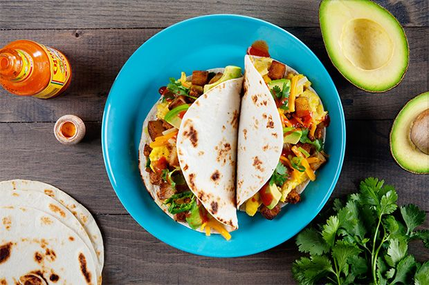 Find the recipe for Breakfast Tacos with Homemade Chorizo, Crispy Potatoes, and Egg and other pork recipes at Epicurious.com