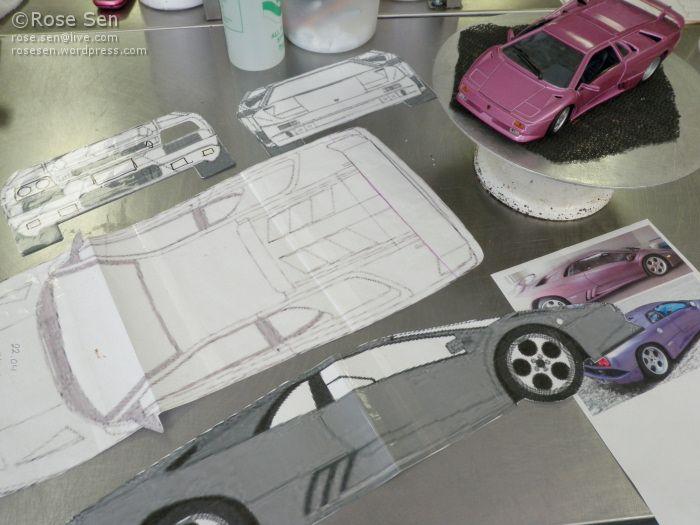 Lamborghini Diablo Se30 Car Cake Cakes Pinterest G 226 Teau Cuisiner Et Recettes