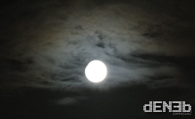 My #FullMoon - Partial Lunar #Eclipse  – April 25, 2013: Pink Full Moon, Partial Lunar Eclipse and Saturn! (Covered by clouds...)
