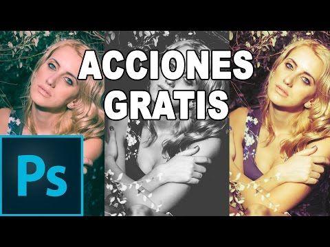 Acciones de Photoshop gratis en Español - YouTube