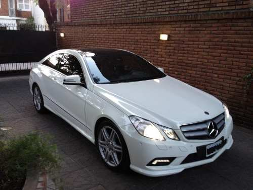 Mercedes Benz Clase E Coupe 350 AMG. Loved it. Particularly Command system. 2010-2012