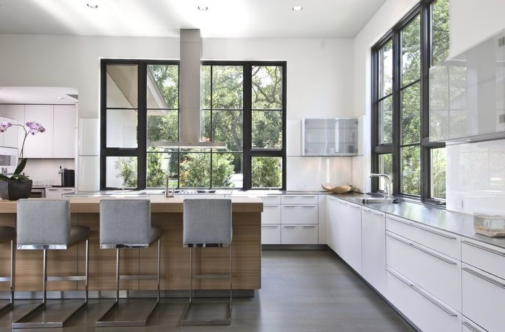 white casement grid window transitional united states with  contemporary bar stools and counter stools