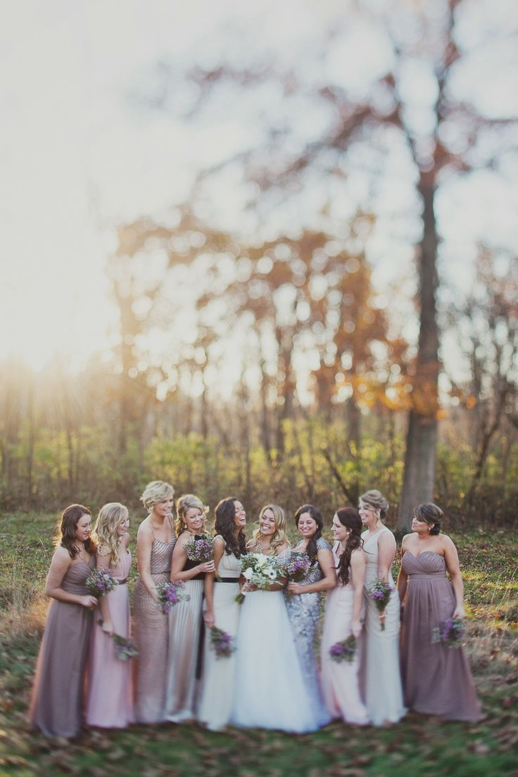 Beautiful Bridesmaids Dresses For Autumn | Photography: Kelly Maughan Photography: