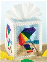 240 best images about plastic canvas on pinterest free pattern plastic canvas and tissue box - Beach themed tissue box cover ...