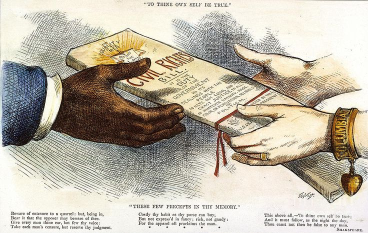 Civil Rights Bill enacted by Congress  March 1, 1875 Civil Rights Bill enacted by Congress. Bill gave Blacks the right to equal treatment in inns, public conveyances, theaters and other places of public amusement. It will be overturned by the Supreme Court in 1883