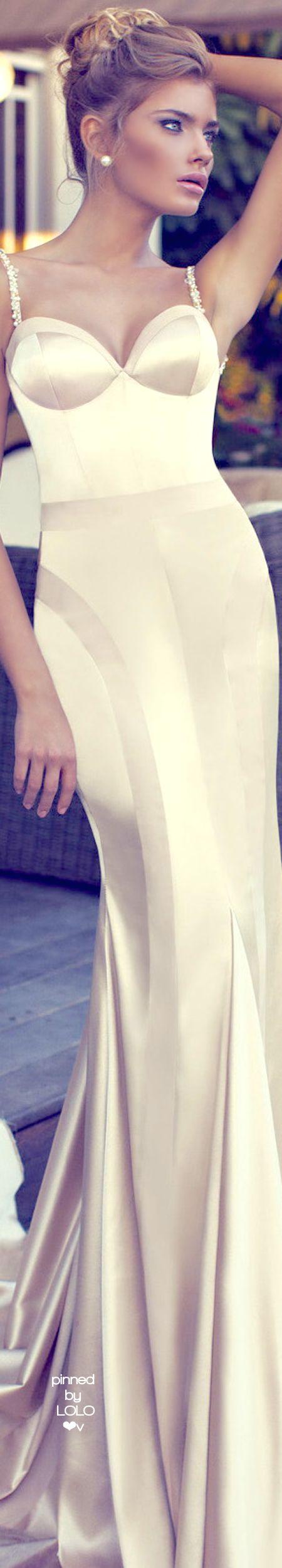 Nurit Hen Haute Couture | LOLO❤ white women fashion outfit clothing stylish apparel @roressclothes closet ideas
