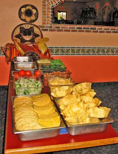 Taco Bar at Ixtapa!