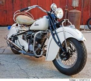 Steve McQueen's 1940 Indian chief motorcycle by fanny