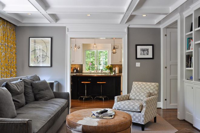 Contemporary Living Room By Cm Glover Grey Walls Cow
