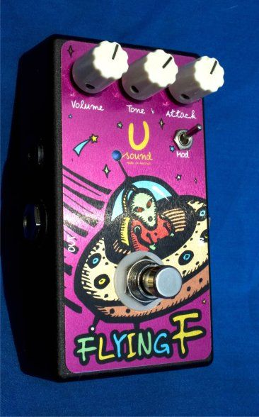 """""""Flying Fuzz""""Germanium Fuzz""""Flying Fuzz""""is a modern modification of legendary VOX Tone Bender, Marshall Supa Fuzz, and similar schemes 60-70s.This fuzz is based on three PNP germanium NOS (new old stock) transistors. """"Flying Fuzzz"""" have an extra switch FAT, making the sound more greasy and dense. Another feature of the circuit is temperature stability (in contrast to Fuzz Face).If your idols Jimmy Page and Jeff Beck, then this is your fuzz!ControlsVolumeAttackToneFat Switch100% True…"""