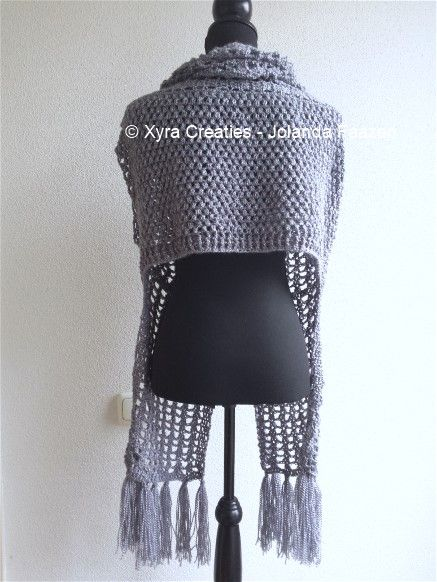 #PATR1061 #Xyra #xyracreaties #sjaalvest #vest #gilet #sleeves #shrug #sjaal #scarf #scarfvest #haakpatroon #patroon #haken #gehaakt #crochet #pattern #crochetpattern #DIY #haakpatroon #patroon #haken #gehaakt #crochet #pattern #DIY #Patroon PATR1061 (NL) is beschikbaar via: Pattern PATR1061 (English-US) is available at: www.xyracreaties.nl www.ravelry.com/stores/xyra-creaties www.etsy.com/shop/XyraCreaties