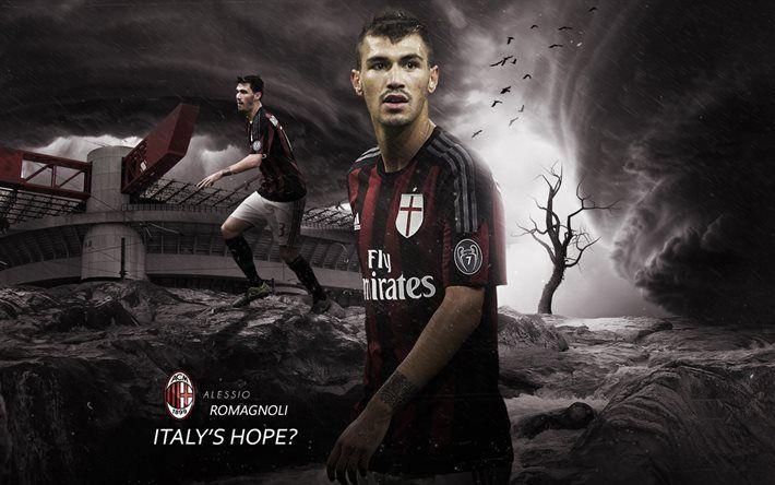 Alessio Romagnoli, AC Milan, Football, Italy, Serie A, stadium, San Siro