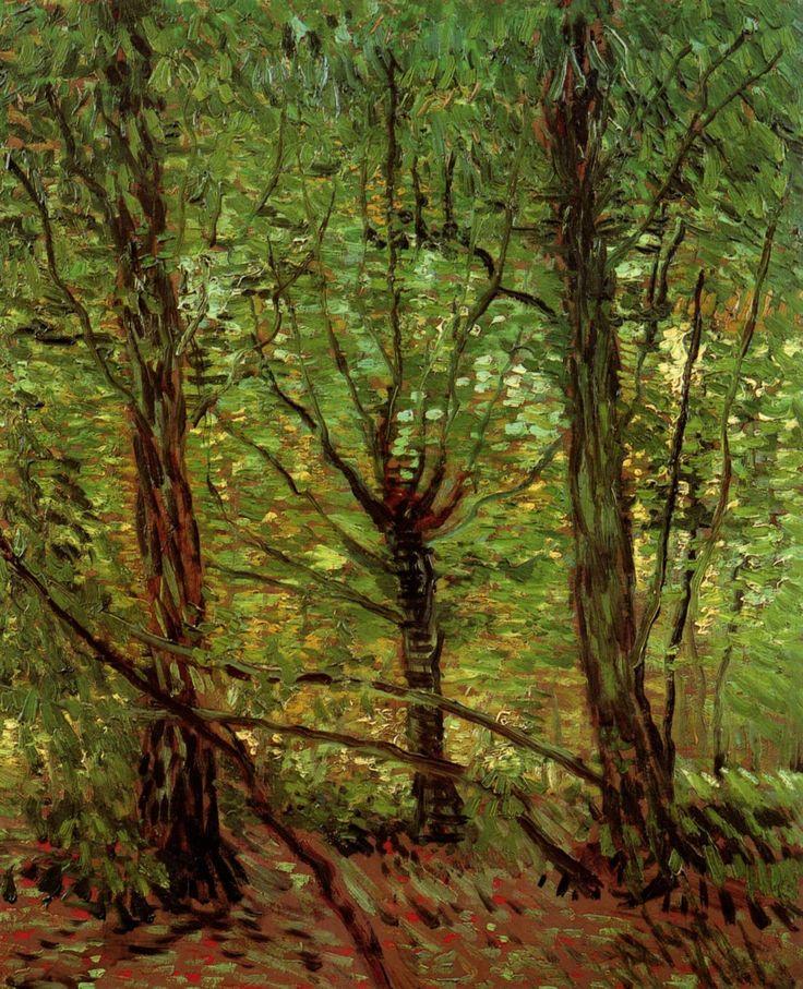1887 Vincent Van Gogh (1853-1890) Trees and Undergrowth 1887 Summer 1887, Paris Oil on canvas, 46 x 36 cm Rijksmuseum Vincent van Gogh, Amsterdam