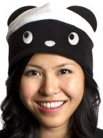 crazyheads Fleece Black and White Panda Hat- SALE $9.99