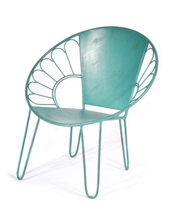Whimsical Painted Wrought Iron Kitchen Chair