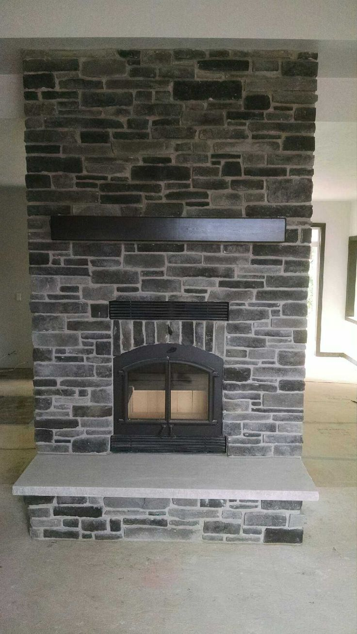 Inserts fireplace accessories new york by bowden s fireside - Our House Kozy Heat 231 Wood Burning Fireplace Kingsford Grey Ledgestone Handmade Espresso