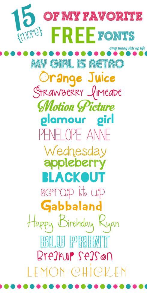 15 (more) Free Favorite Fonts