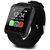 """U8 Smart Watch Uwatch Wristwatch Phone Mate for Smartphones (Black)   System Physical Standard Configuration: Dimensions:40*47*9.9mm Weight:44 g Screen Size:1.44"""" Screen Resolution:128*128"""