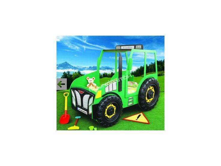 Detská posteľ Traktor zelený. Zaujímavá detská posteľ v tvare traktora, bude jedinečným prvkom detskej izby.