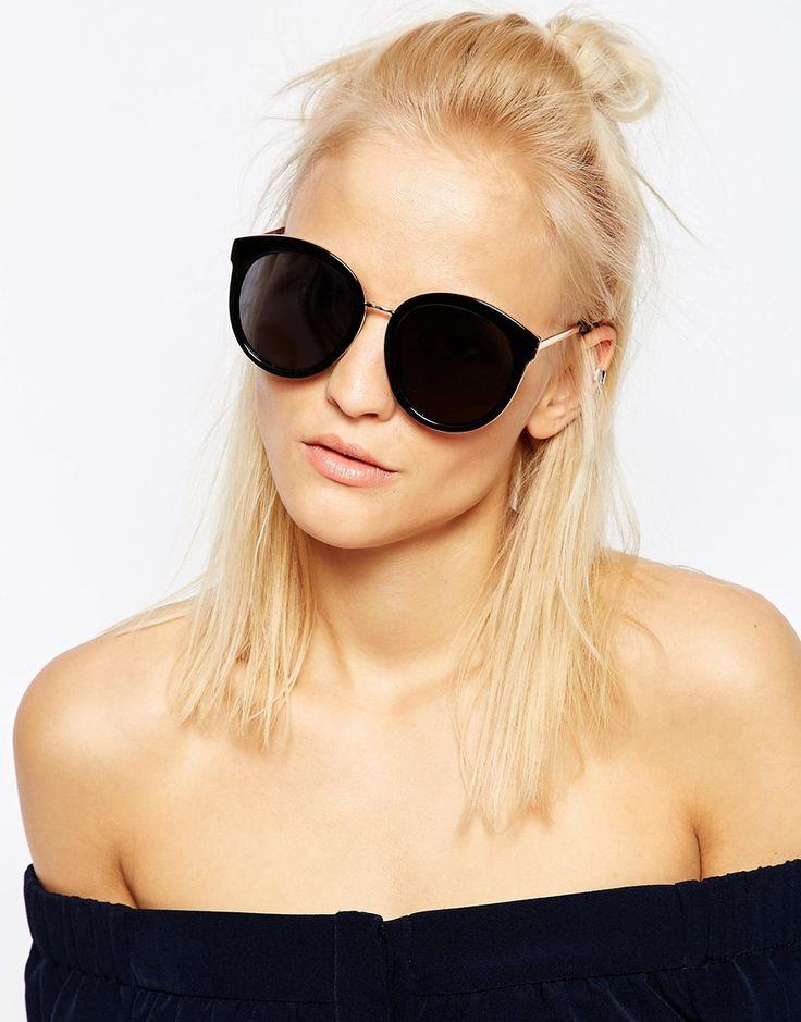 Les nouvelles lunettes de soleil en métal Lunettes de soleil oeil de chat de diamant Femme Lunettes de soleil visage rond ( Couleur : 2 ) rIG0wgiCZ