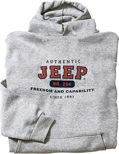 Jeep Clothing Authentic Jeep Sweatshirt in Grey   Quadratec