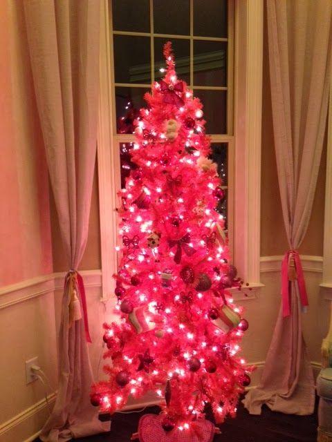 pink on pink christmas tree - Hot Pink Christmas Tree