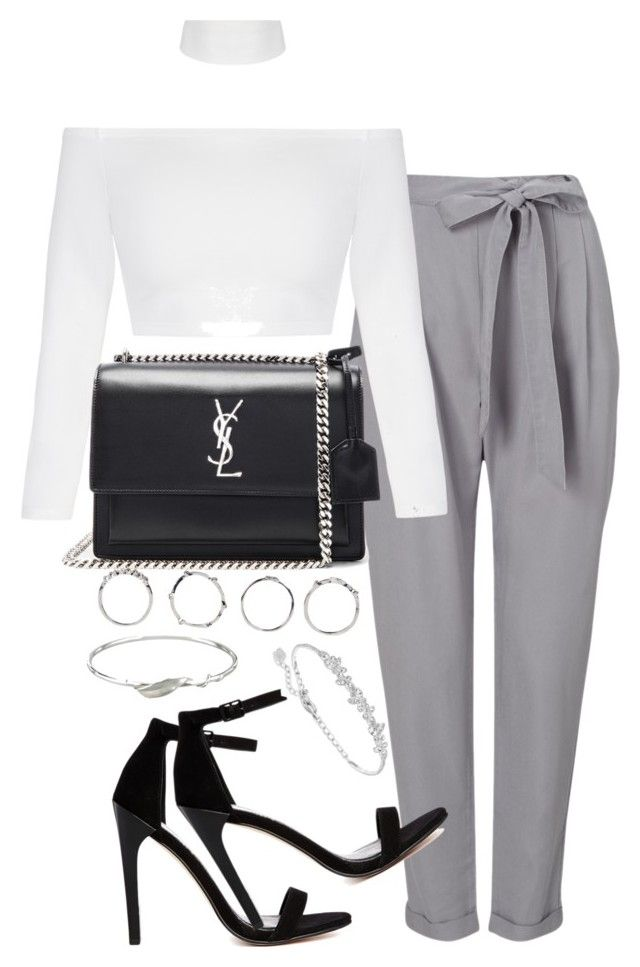 """""""Untitled #2646"""" by theeuropeancloset ❤ liked on Polyvore featuring Phase Eight, Yves Saint Laurent, ASOS, Boohoo, Collette Waudby and Swarovski"""