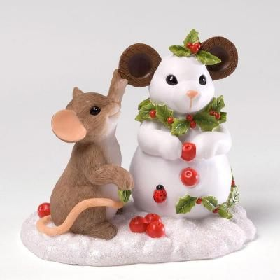 building a snow mouse - Mouse Decorations Christmas