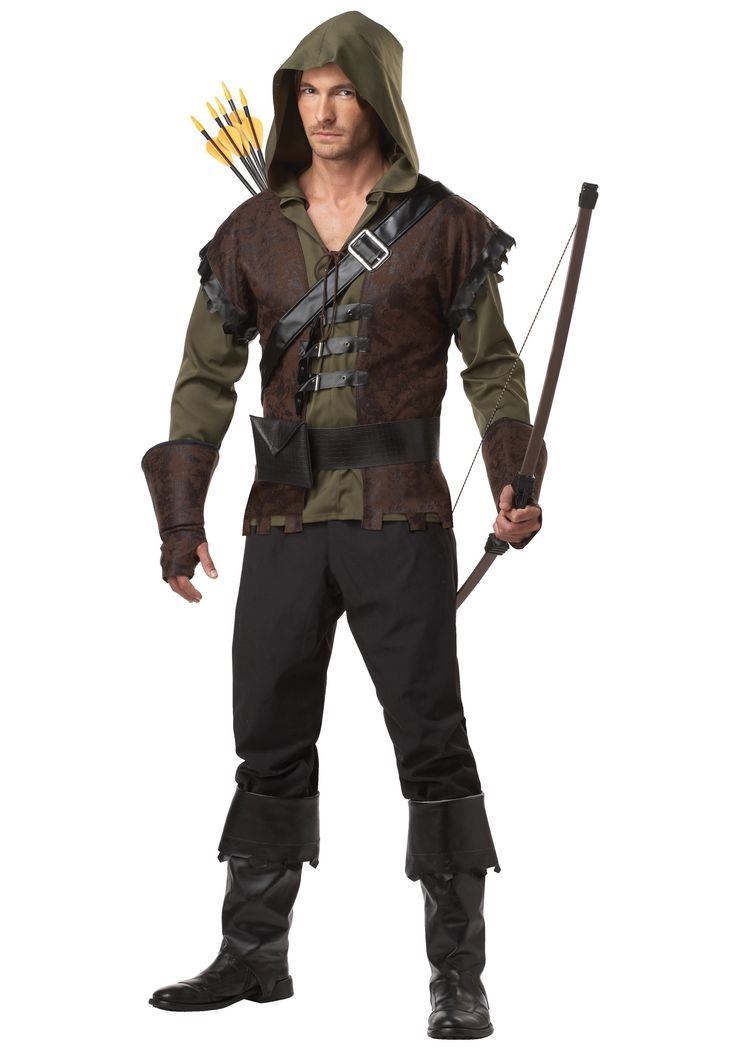 This Mens Robin Hood Costume is a great look from the classic storybook tale. Lead your merry men, wearing some of our other Robin Hood or Friar Tuck costumes, to save Maid Marian from peril!