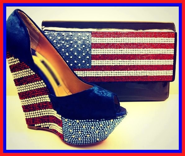 The American Shoes and clutch