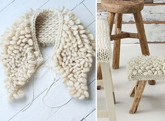 LEFT: Goodnight, Day at Summerland RIGHT: Martha Stewart Living (Jan 2012) Loop stitch — I've been cooking up a reason to try this one out. There's a good video tutorial at Martha Stewart. Speaking...