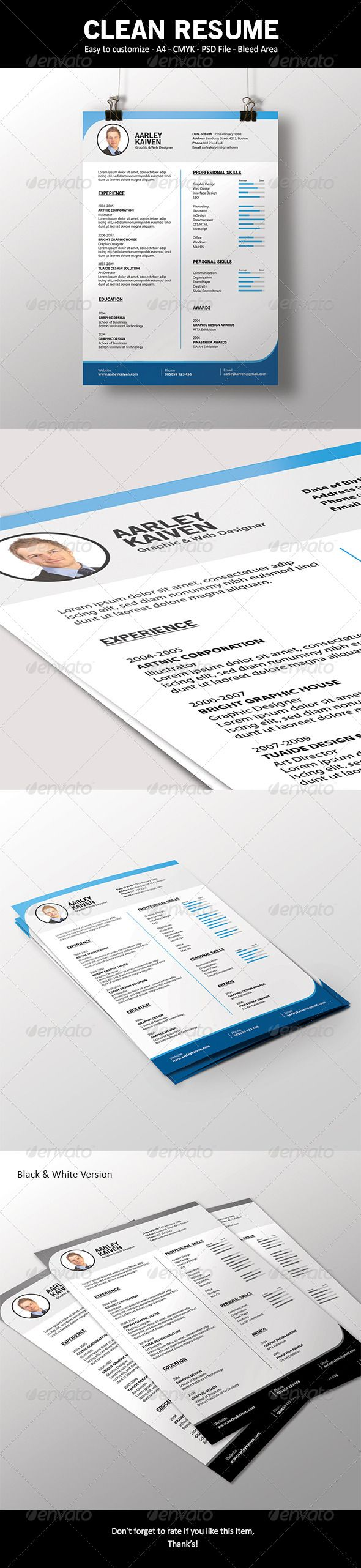39 best images about photoshop resume templates on pinterest