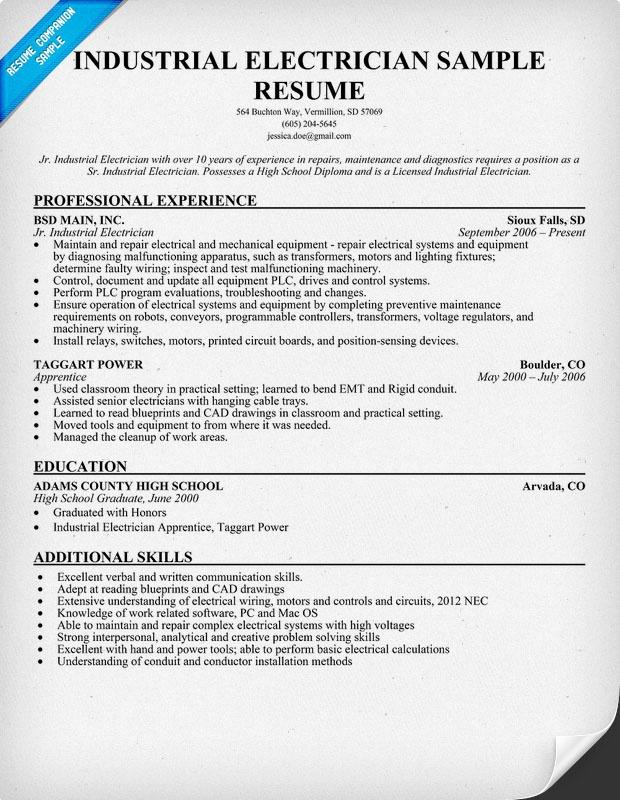 resume job objective industrial