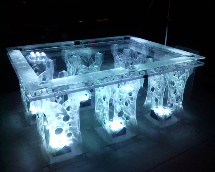 AMAZING POOL TABLES | Acrylic Buffet Table And Serpentine Table