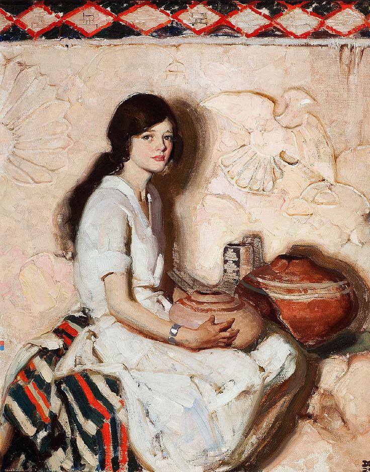 "Dean Cornwell (1892-1960),  Portrait. 1929, o/c, 30x24"""