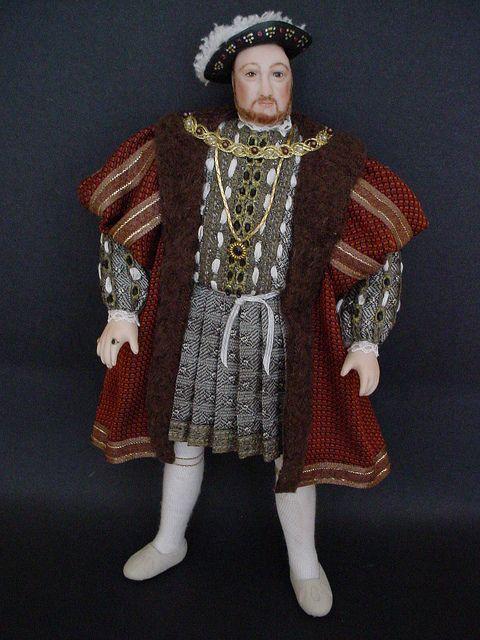 king henry viii dollshouse doll by debbie dixonpaver