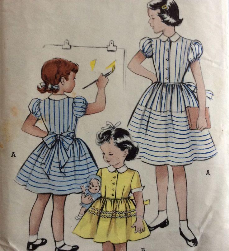 5848 cartamodelli vintage 1950 ragazze dress dimensione di cucire modello 8 di RuralRetroTreasures su Etsy https://www.etsy.com/it/listing/210696521/5848-cartamodelli-vintage-1950-ragazze