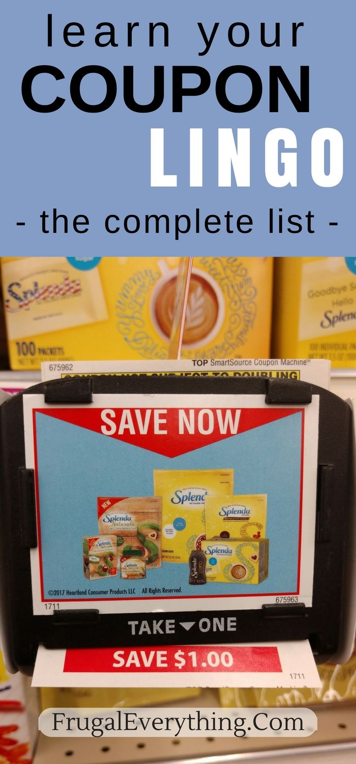 Confused by coupon terminology? Here is our complete list of couponing lingo!